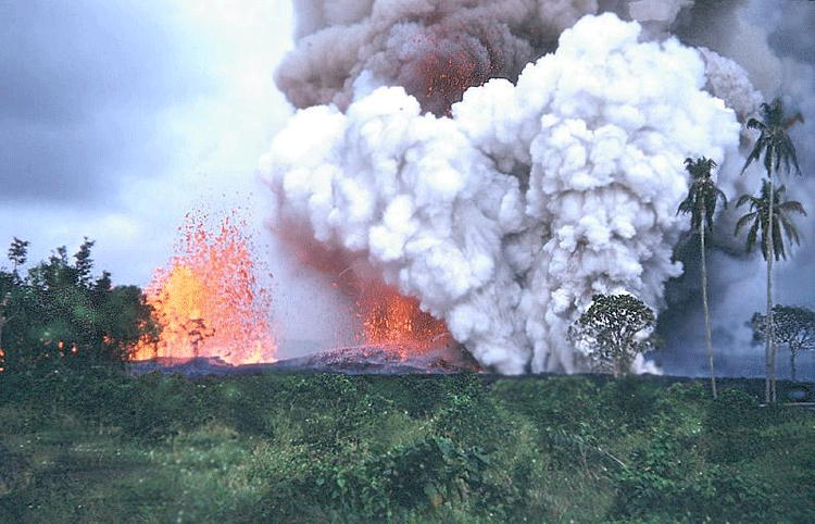 1960 kilauea eruption kapoho hawaii