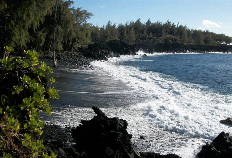 kehena black sand beach, Puna District Big Island